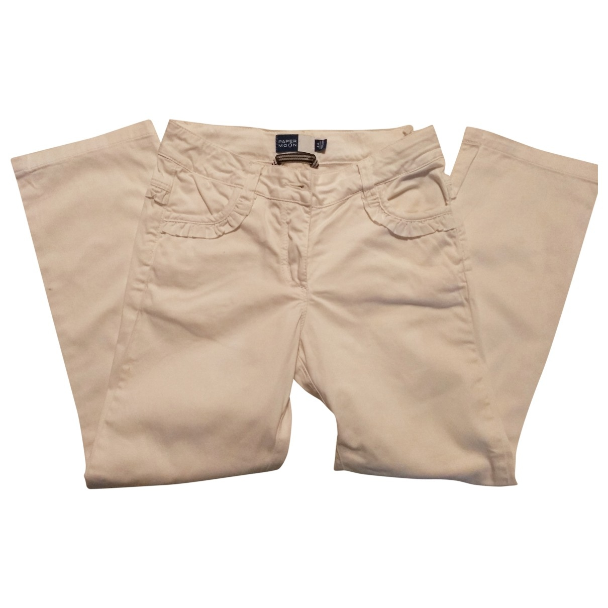 Paper Moon - Pantalon   pour enfant en coton - blanc