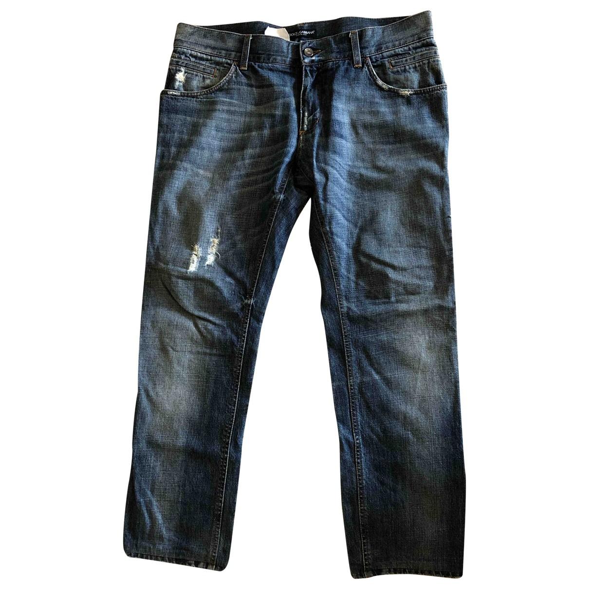 Dolce & Gabbana \N Blue Cotton Jeans for Men 46 FR