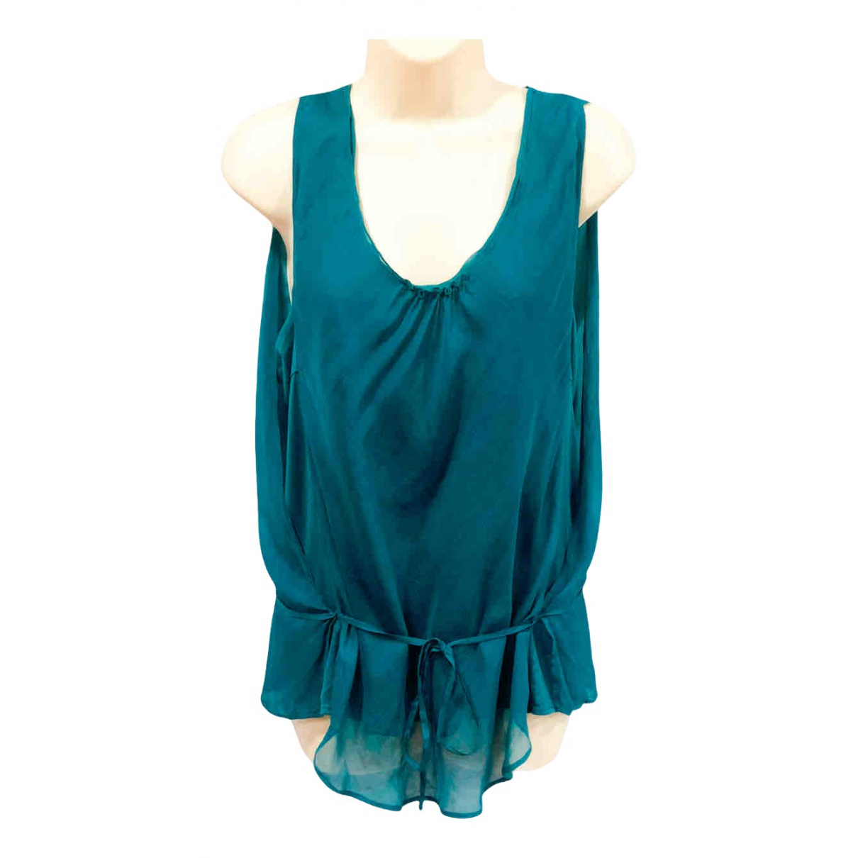 Bimba Y Lola N Blue Silk  top for Women L International