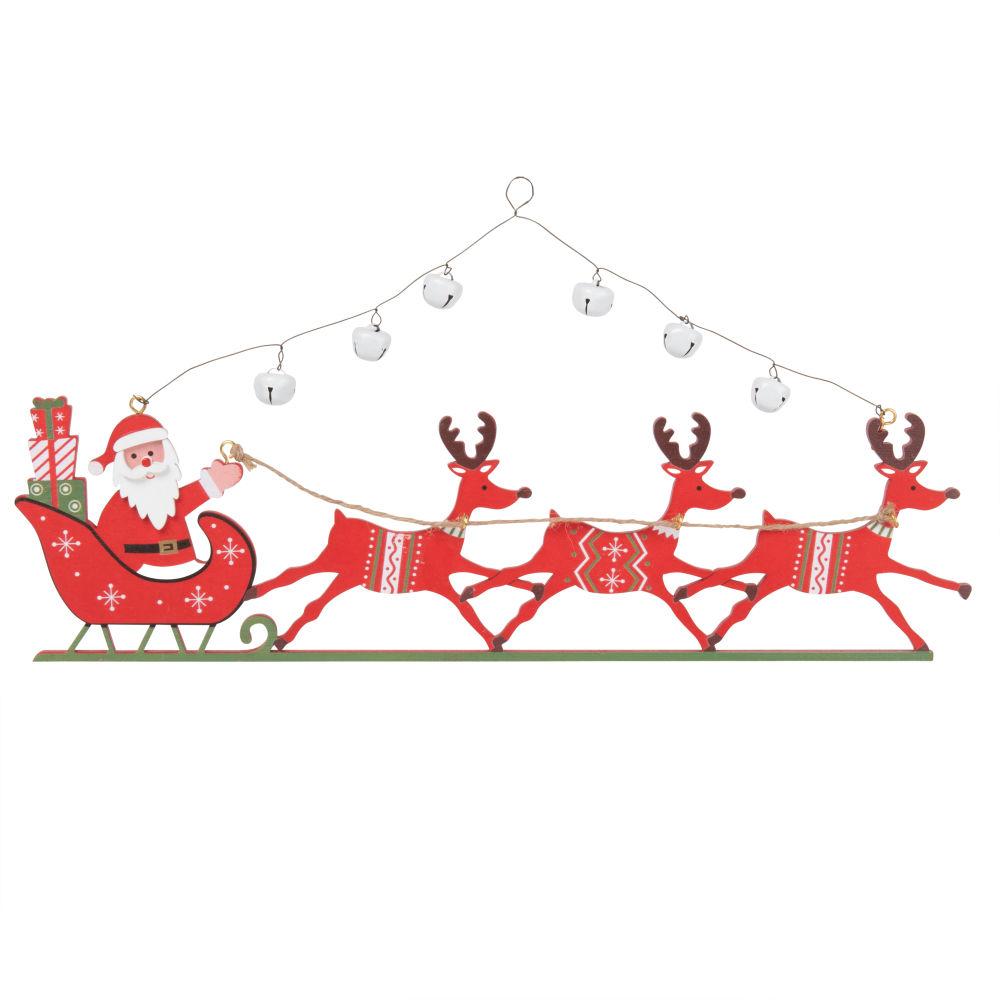 Weihnachtliche Haengedeko, Weihnachtsschlitten, rot