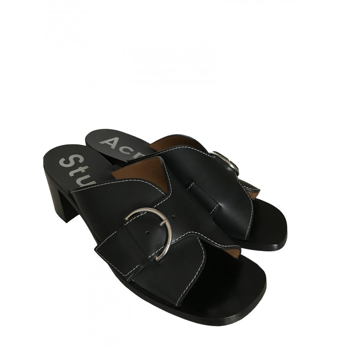 Acne Studios \N Black Leather Sandals for Women 40 EU