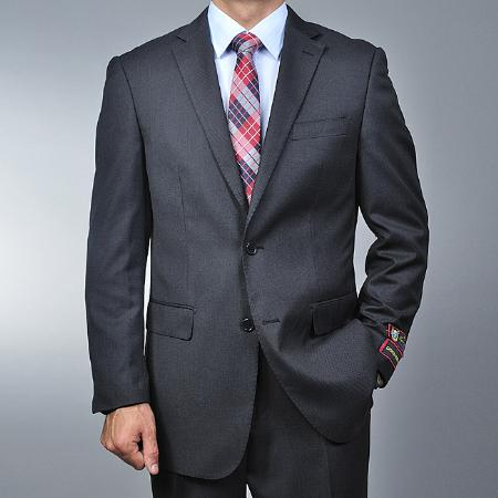 Mens Grey Nailhead 2button Suit