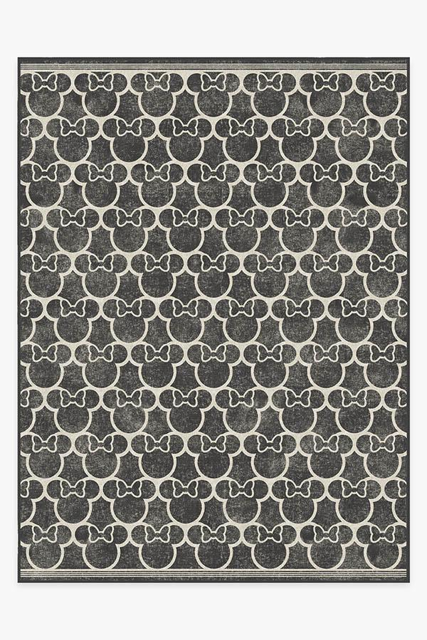 Washable Rug Cover | Minnie Trellis Black Rug | Stain-Resistant | Ruggable | 9'x12'