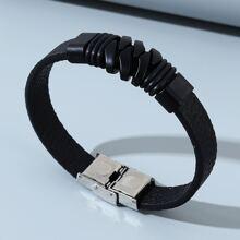 Men Stainless Steel Decor Bracelet