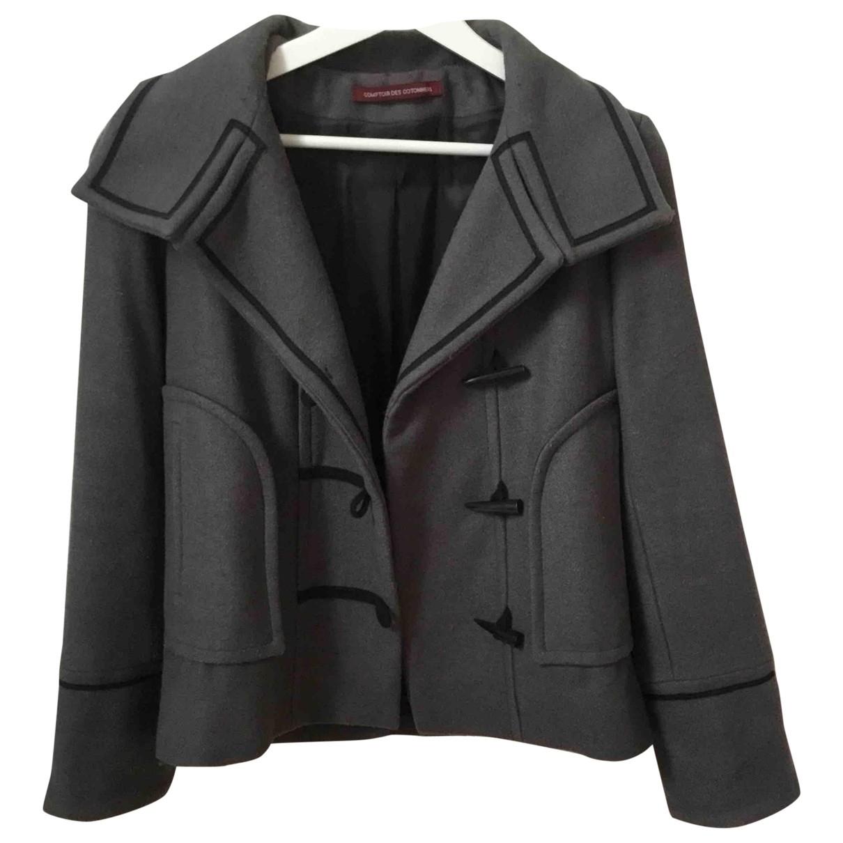 Comptoir Des Cotonniers \N Grey Wool coat for Women 36 FR