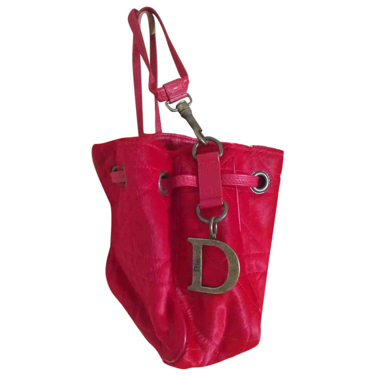 Dior \N Handtasche in  Rot Kalbsleder in Pony-Optik