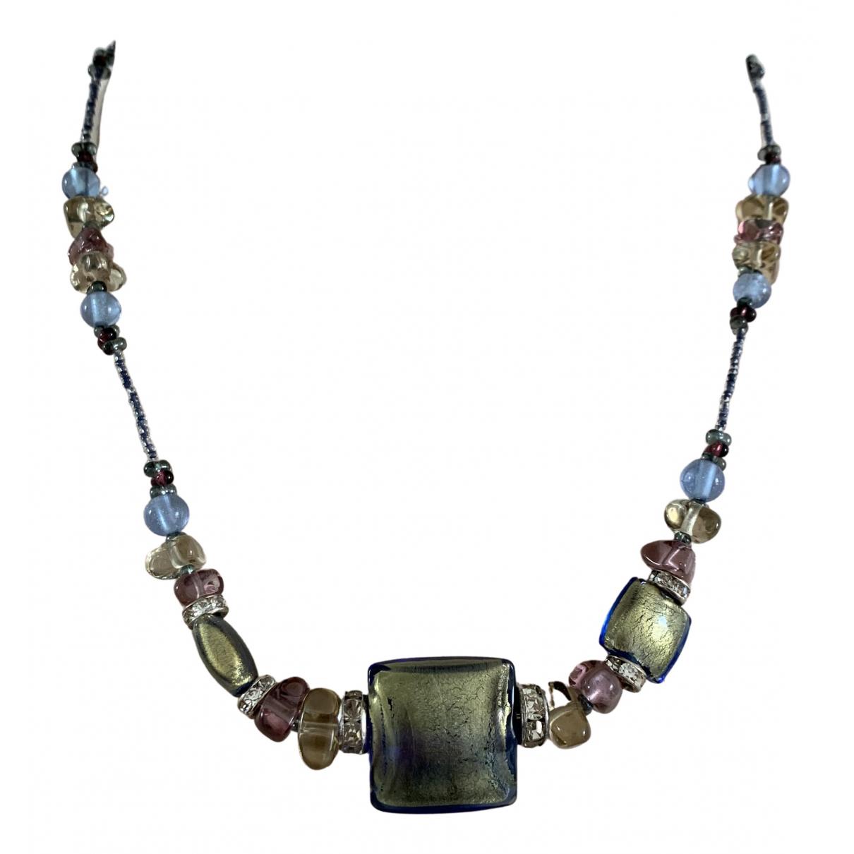 - Collier   pour femme en verre - multicolore