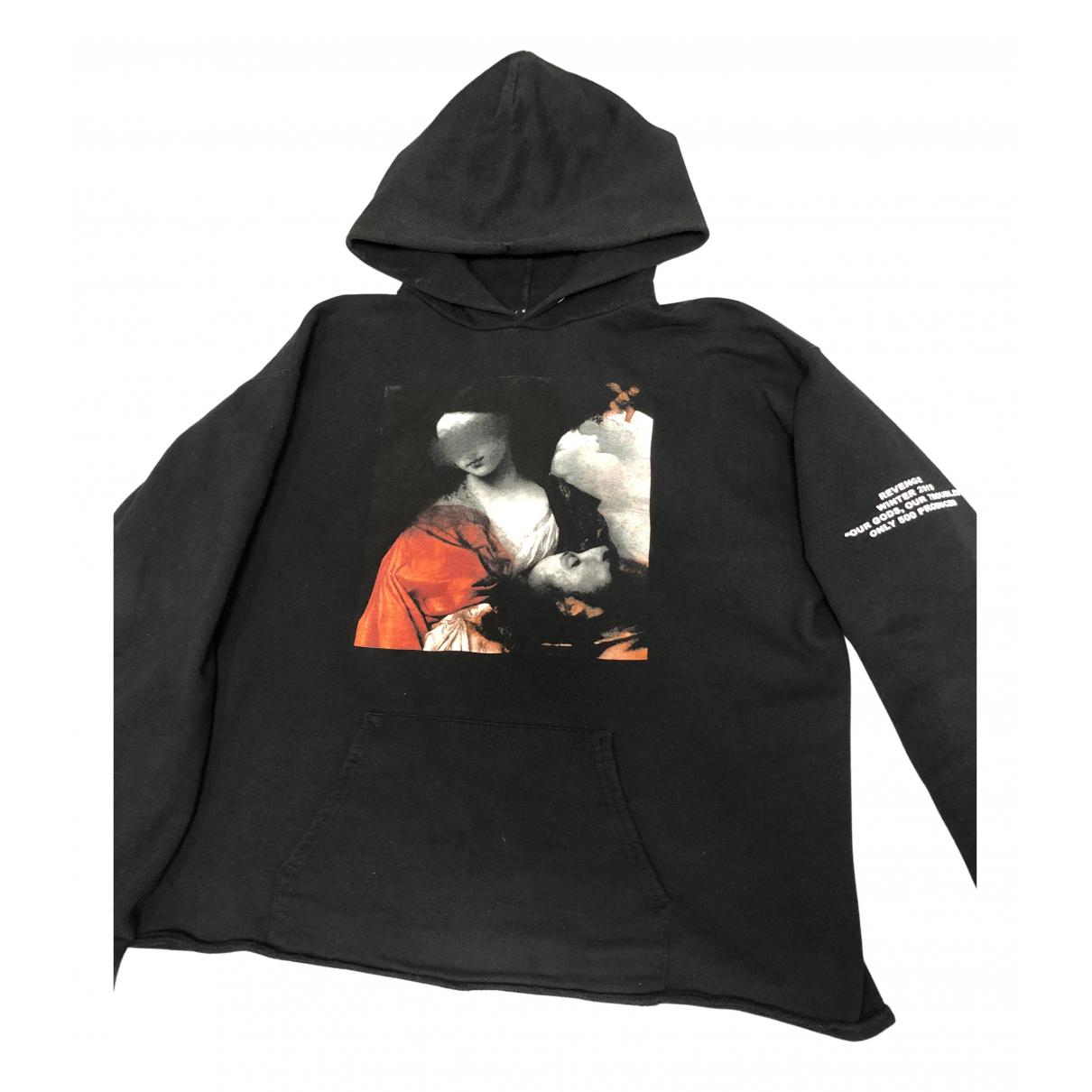 Revenge \N Pullover.Westen.Sweatshirts  in  Schwarz Baumwolle
