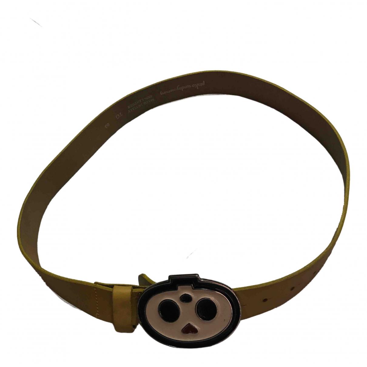 Pinko \N Yellow belt for Women 90 cm
