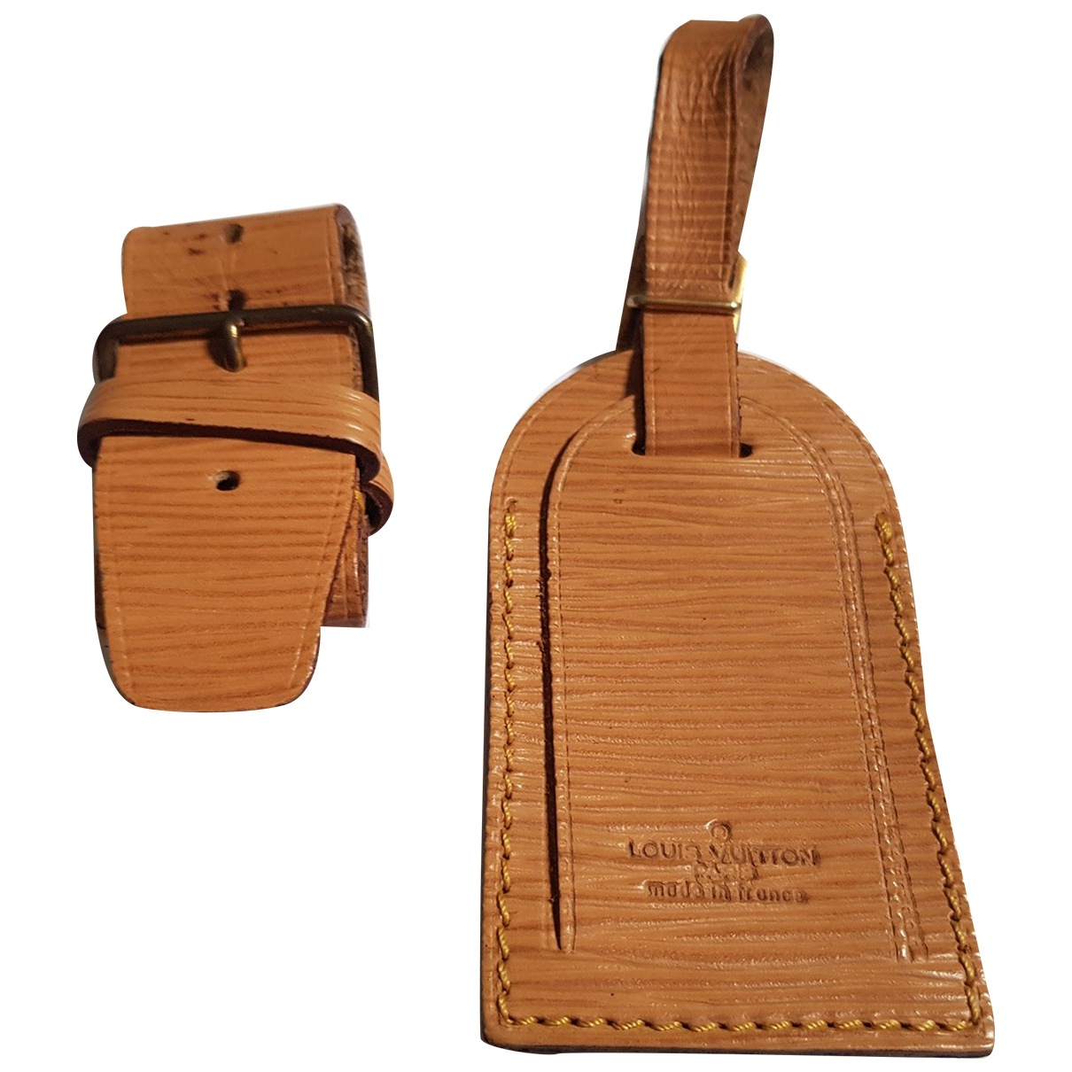Louis Vuitton - Petite maroquinerie Porte adresse pour femme en cuir - marron