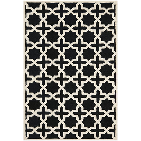 Safavieh Trevelyan Geometric Hand Tufted Wool Rug, One Size , Black