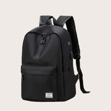 Maenner Rucksack mit Taschen vorn und USB-Anschluss