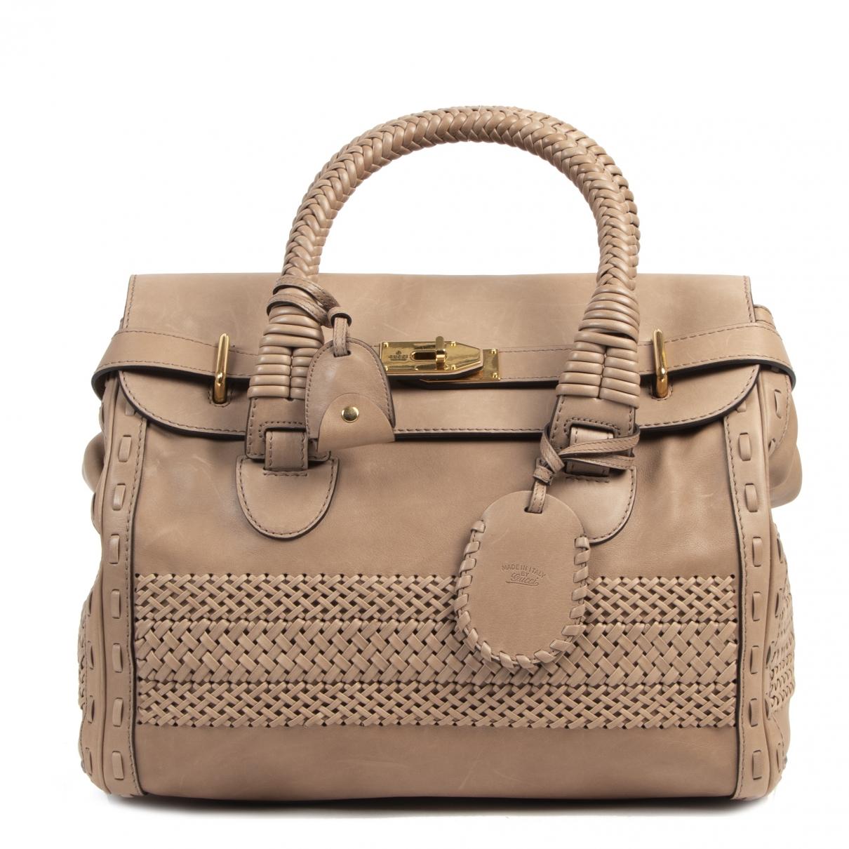 Gucci \N Ecru Leather handbag for Women \N
