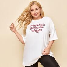 Schriftzug  Laessig T-Shirts Grosse Grossen