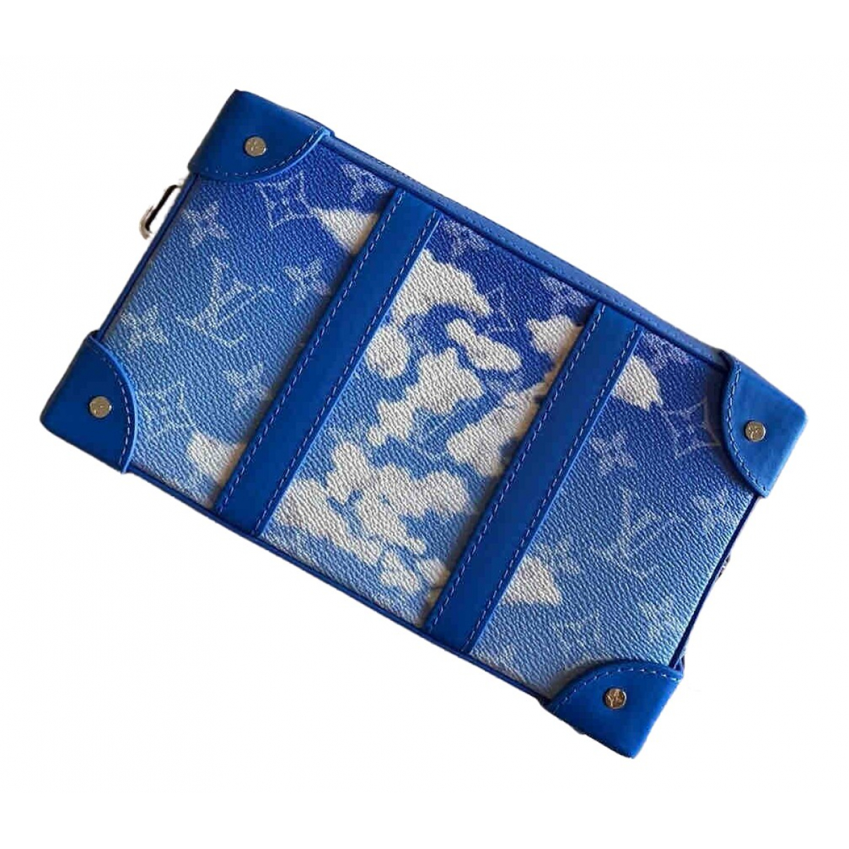 Louis Vuitton Malle Trunk Blue Cloth Small bag, wallet & cases for Men \N