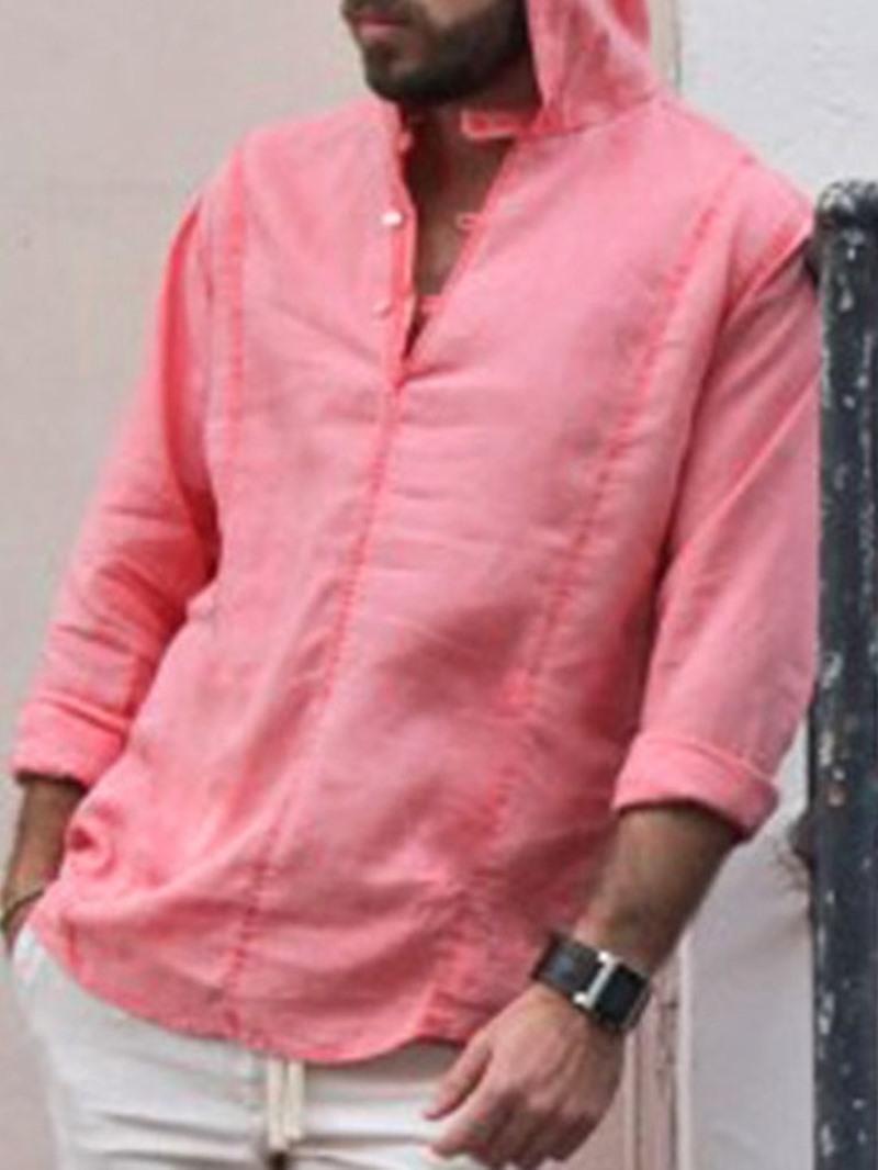Ericdress Hooded Plain Slim Fall Shirt