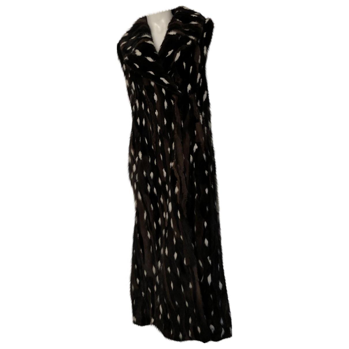 Marni - Manteau   pour femme en vison - multicolore
