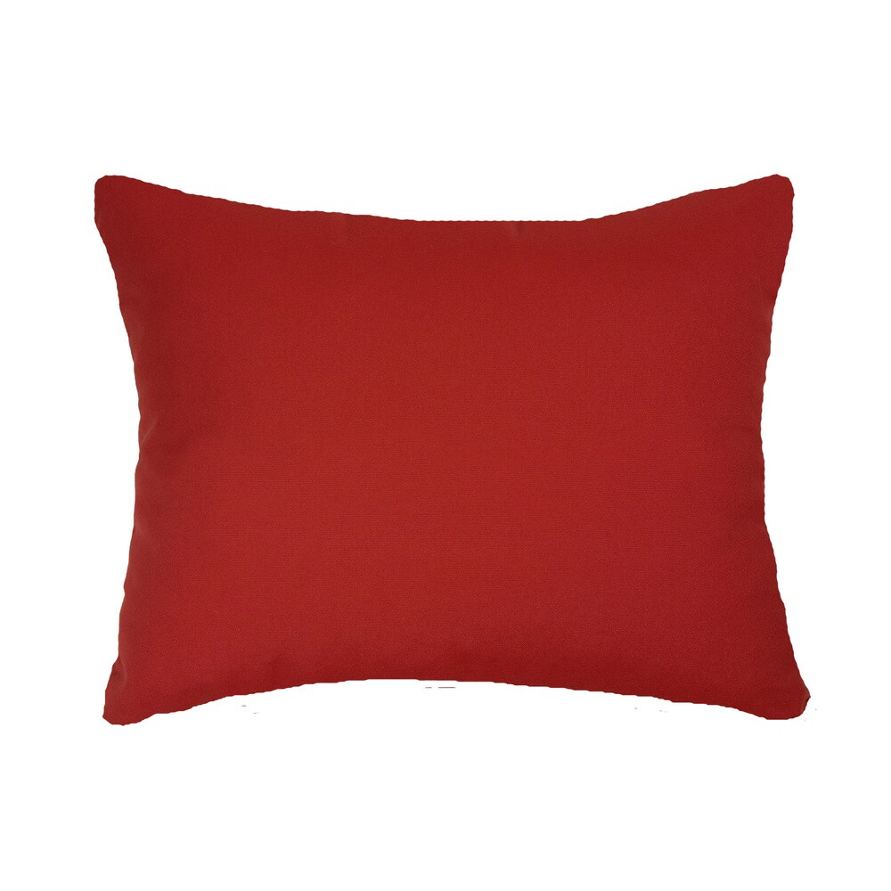 Red Indoor/ Outdoor 13x20-inch Throw Pillows (Set of 2) (Red)