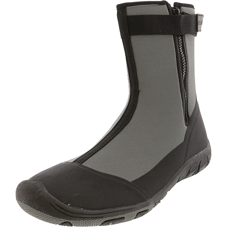 Tecs Men's Aqua-Tecs Scuba Boots Black / Grey Mid-Calf Water Shoes - 13M