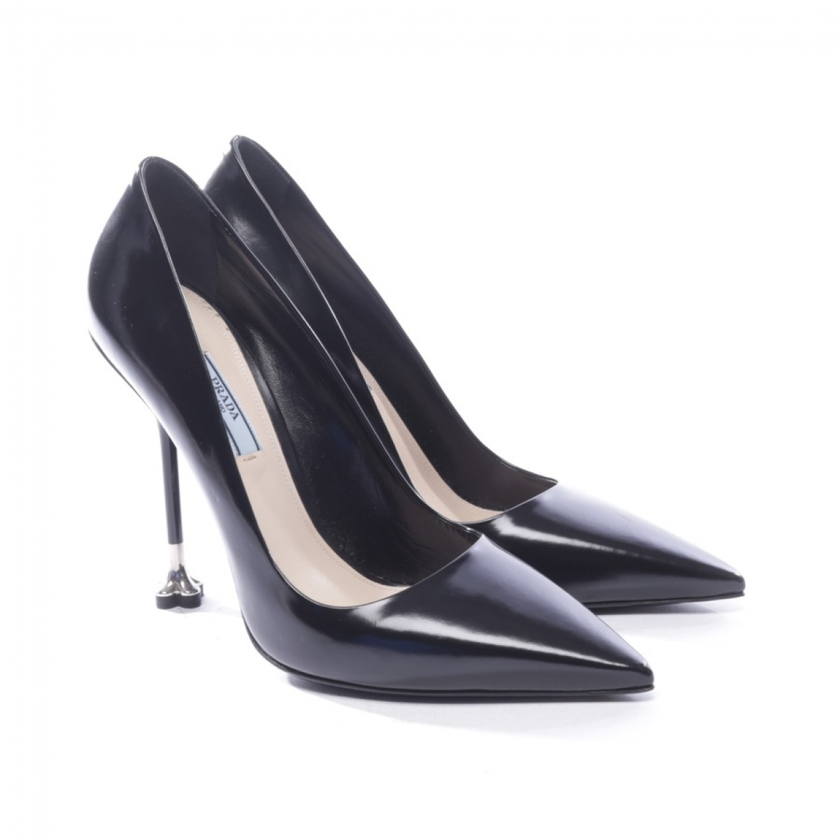 Prada \N Black Leather Heels for Women 39 EU