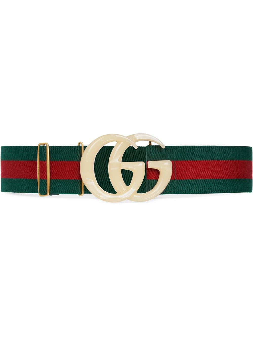 Web Belt With Gg Buckle