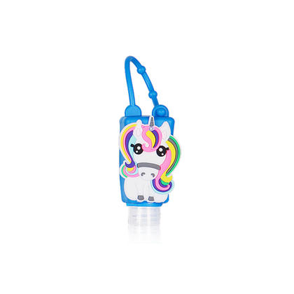 Portable Hand Sanitizer Bottle with Silicone Cartoon Tip-on for Kids Outdoor, 30ml/1oz