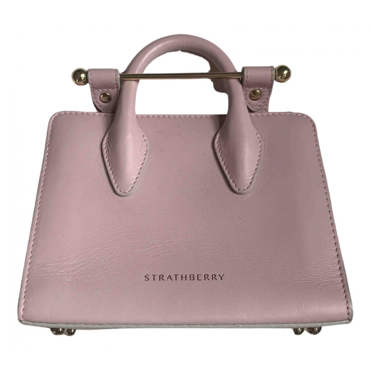Strathberry - Sac a main   pour femme en cuir - rose