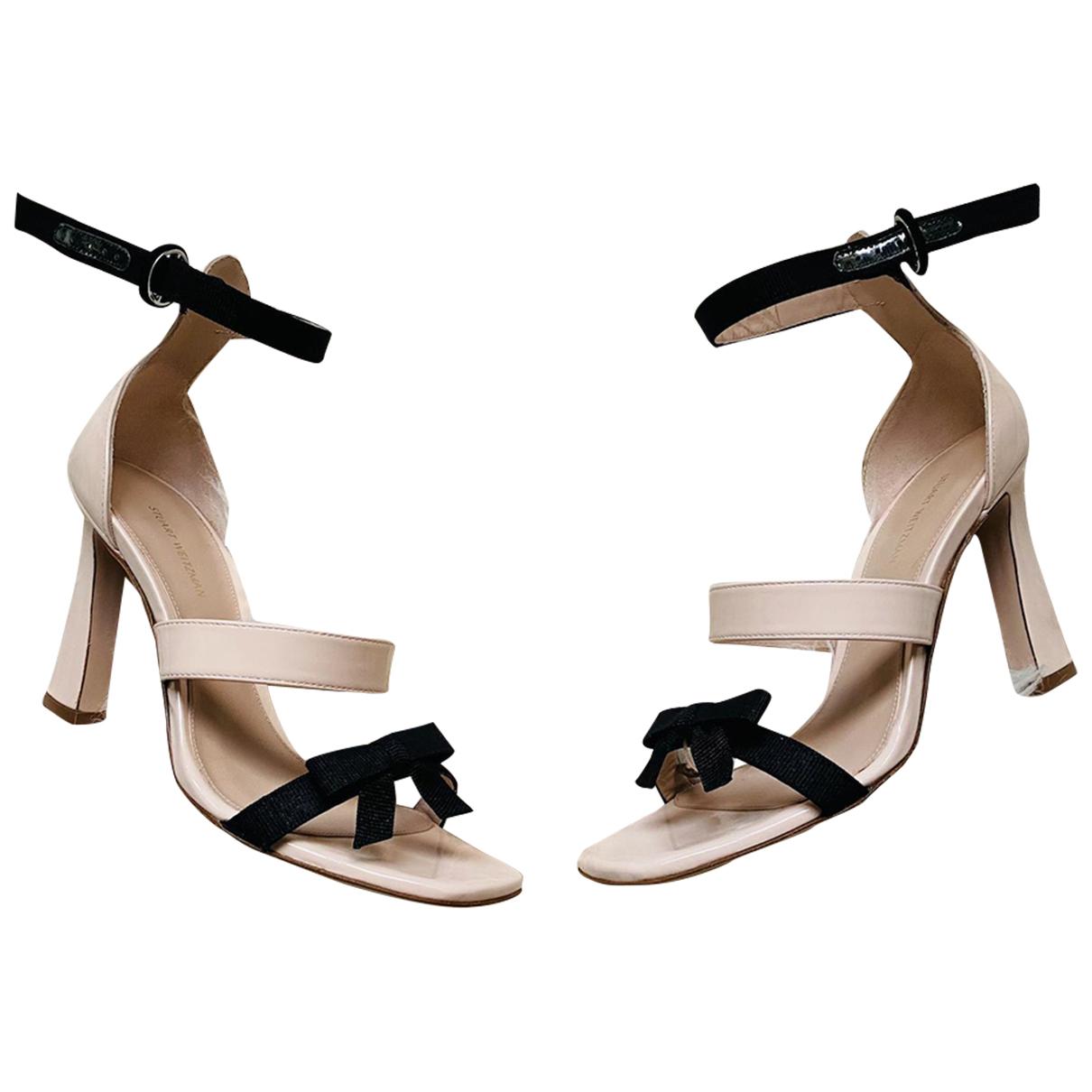 Stuart Weitzman N Beige Leather Sandals for Women 5.5 UK