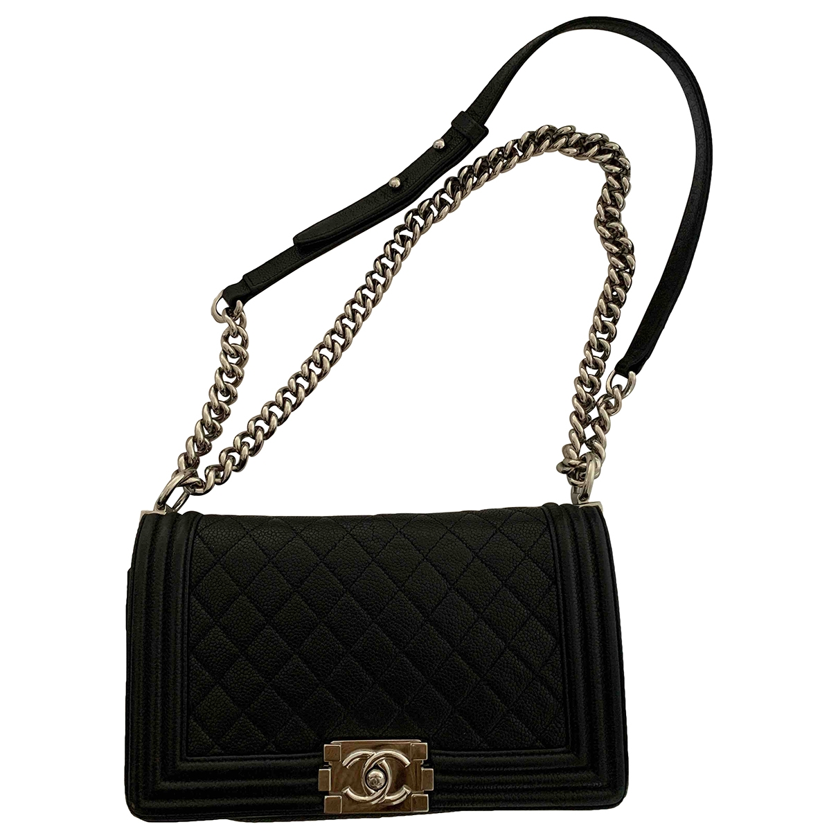 Chanel Boy Black Leather handbag for Women \N