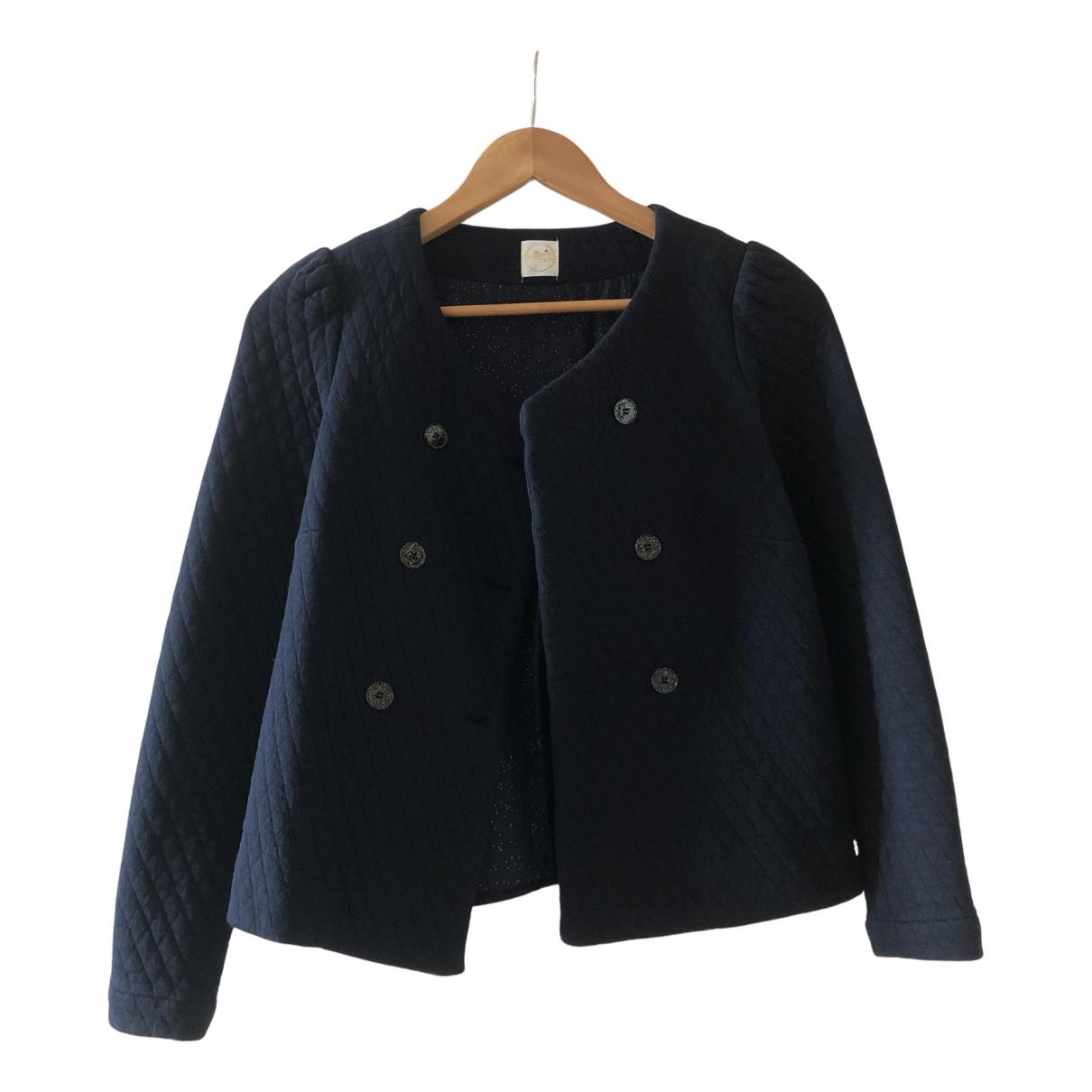Des Petits Hauts N Blue Cotton jacket for Women 0 0-5