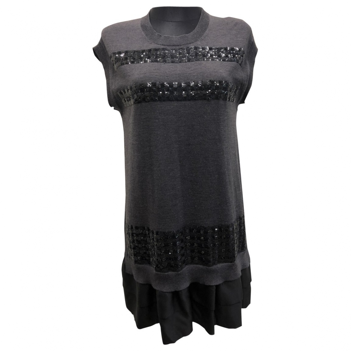 Louis Vuitton \N Grey Wool dress for Women S International