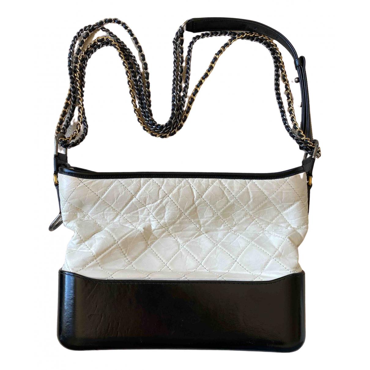 Chanel Gabrielle White Leather handbag for Women \N