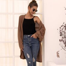 Open Front Midi Slouchy Cardigan