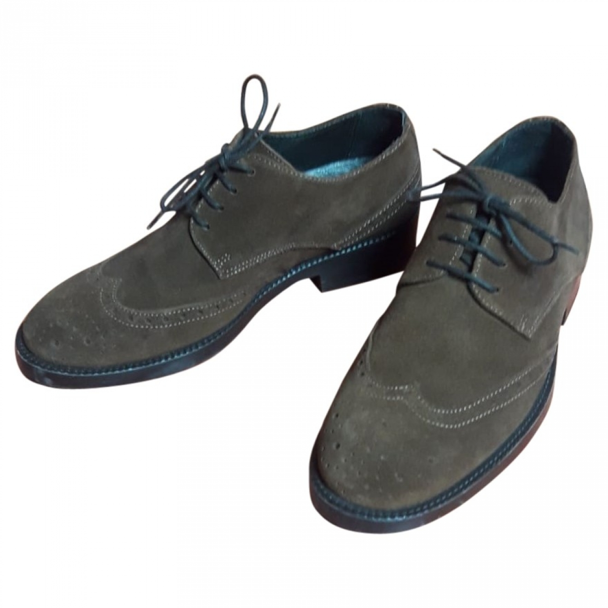 Non Signé / Unsigned \N Brown Suede Lace ups for Men 6 UK