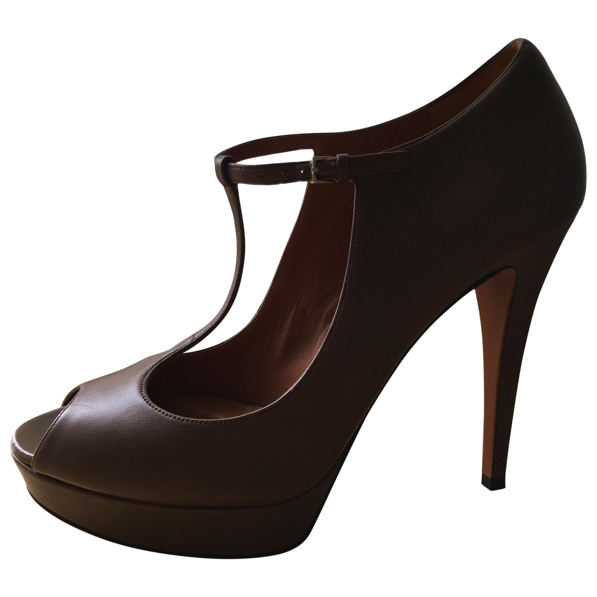 Gucci \N Brown Leather Heels for Women 40 EU