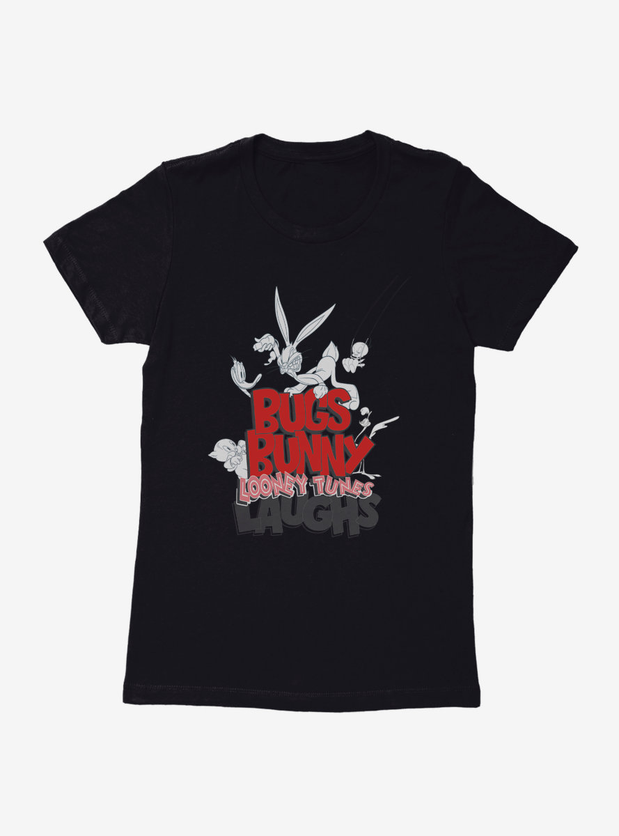 Looney Tunes Bugs Bunny Laughs Womens T-Shirt