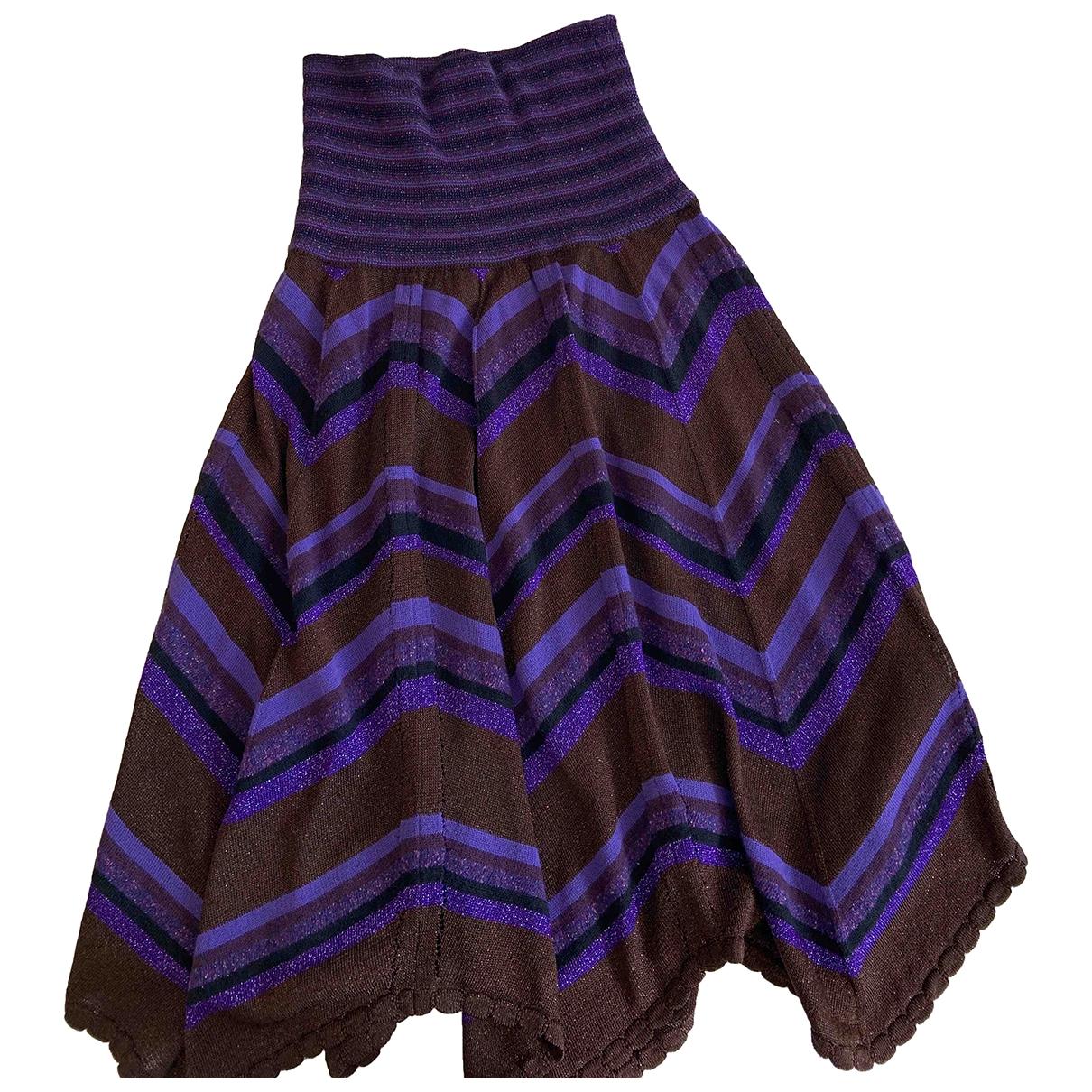 D&g - Jupe   pour femme en laine - violet