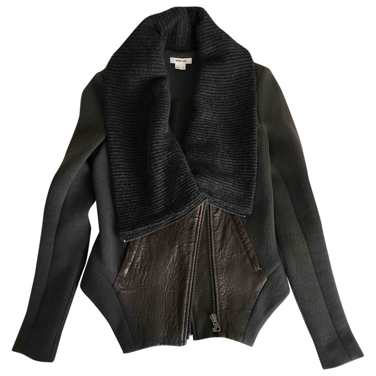 Helmut Lang \N Anthracite Leather jacket for Women S International