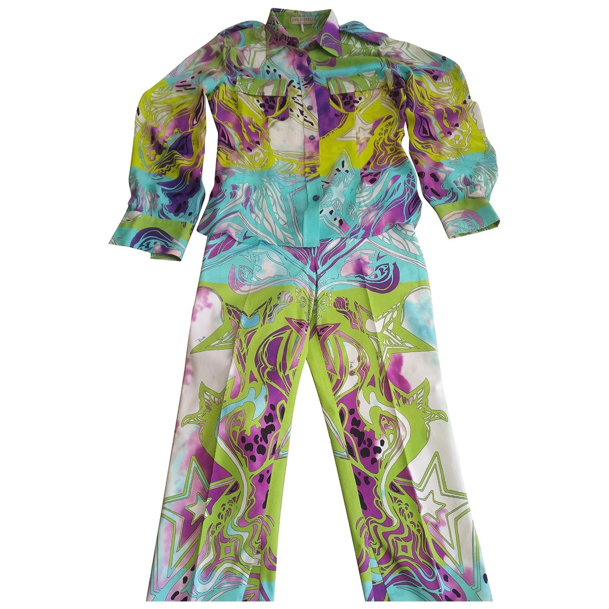 Emilio Pucci \N Multicolour Silk jumpsuit for Women 40 IT