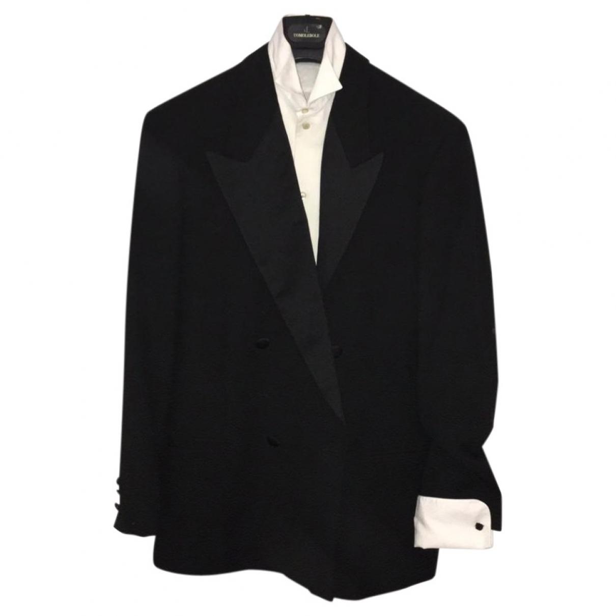 Emporio Armani \N Black Cotton Suits for Men 50 IT