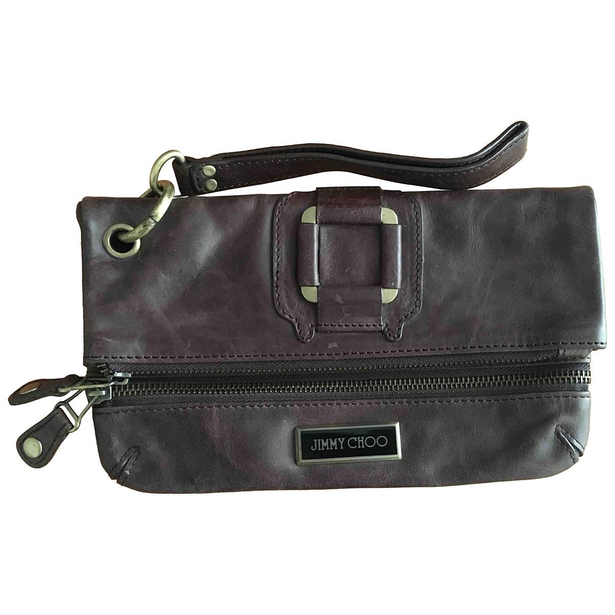 Jimmy Choo \N Brown Leather Clutch bag for Women \N