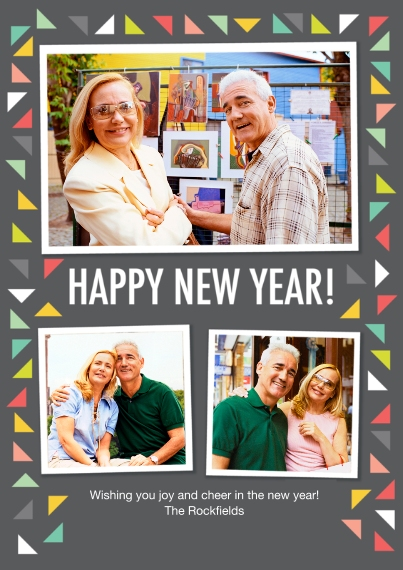 New Year's 5x7 Cards, Premium Cardstock 120lb with Rounded Corners, Card & Stationery -Modern Confetti