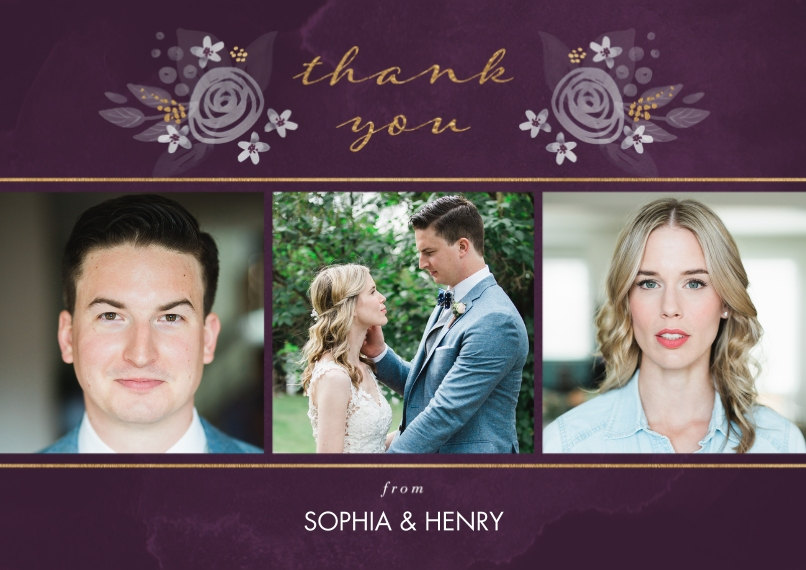 Wedding Thank You 5x7 Cards, Premium Cardstock 120lb with Scalloped Corners, Card & Stationery -Nature's Love Thank You