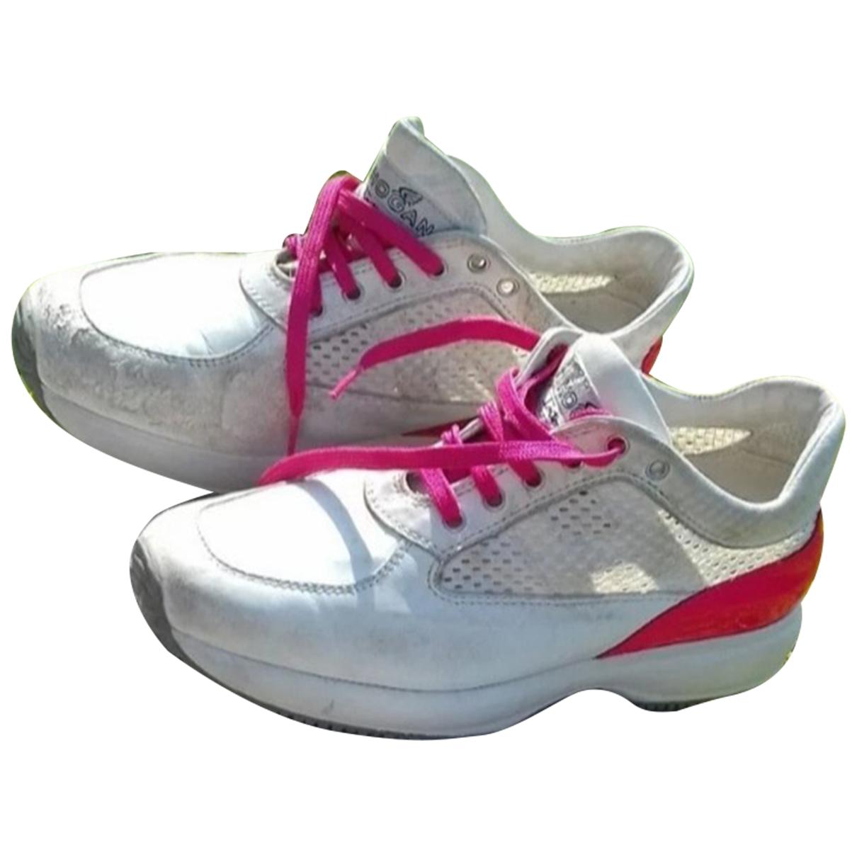 Hogan - Baskets   pour femme en suede - multicolore
