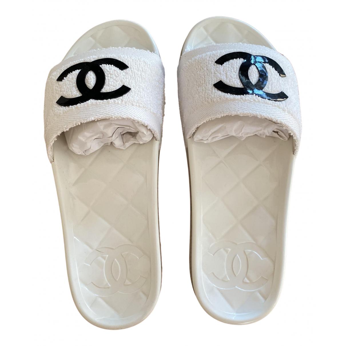 Chanel - Sandales   pour femme - blanc