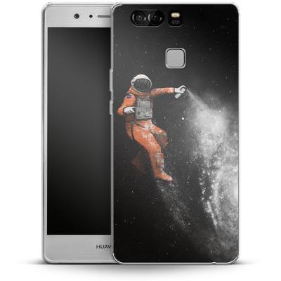 Huawei P9 Silikon Handyhuelle - Space Astronaut von Florent Bodart