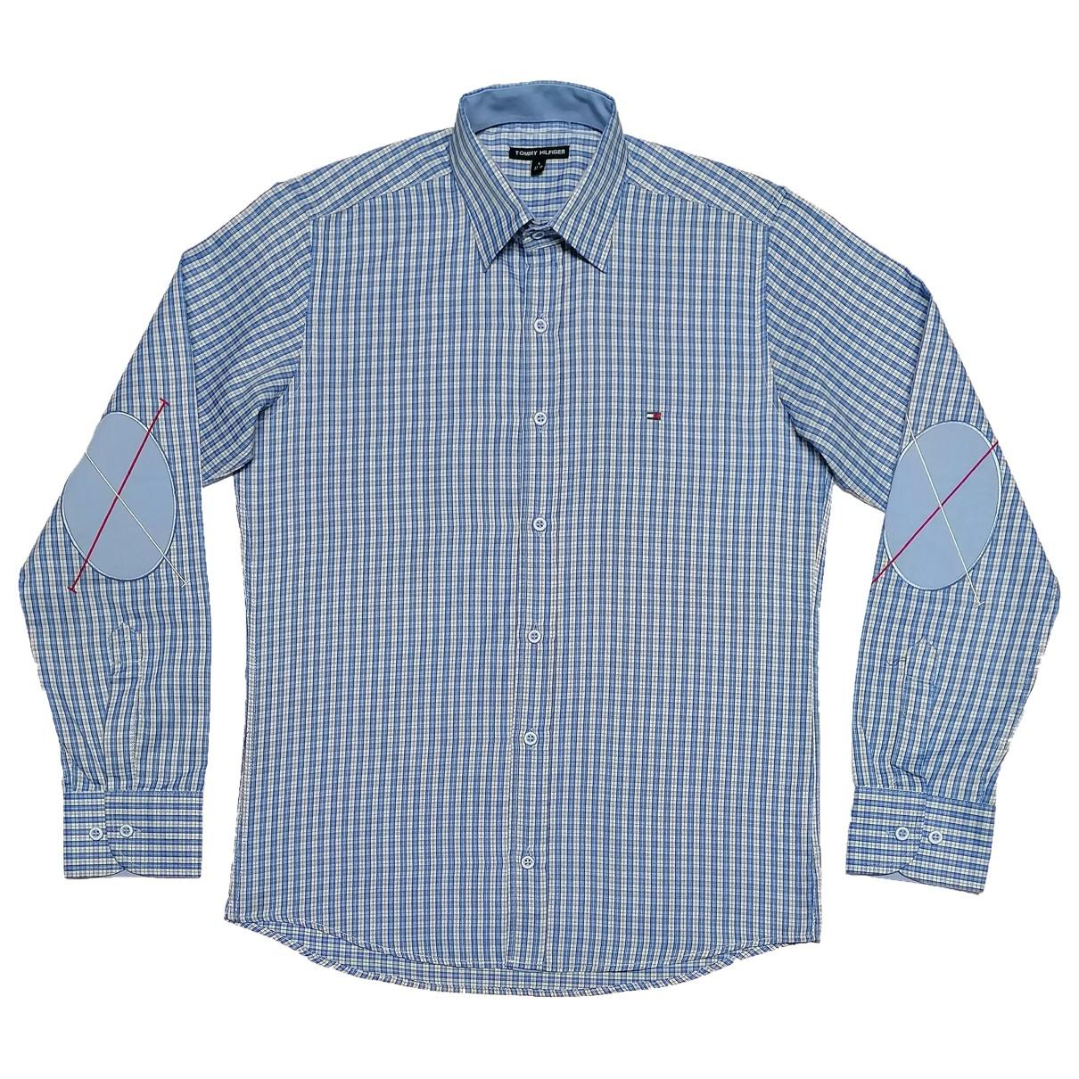 Tommy Hilfiger \N Blue Cotton Shirts for Men 38 EU (tour de cou / collar)