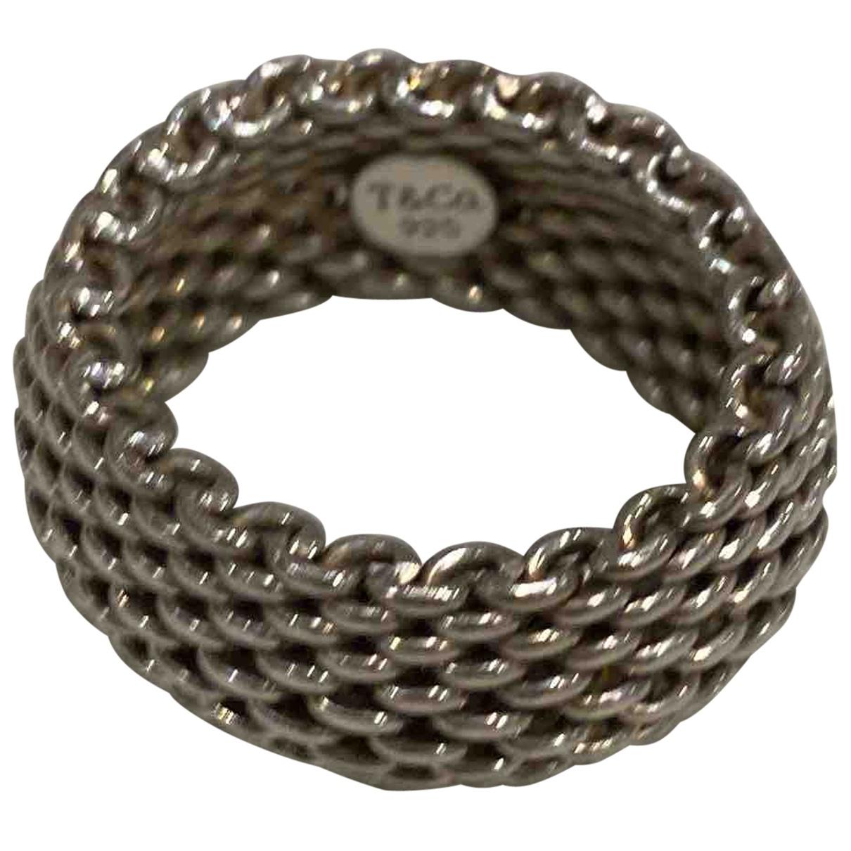 Tiffany & Co - Bague   pour femme en perle - argente