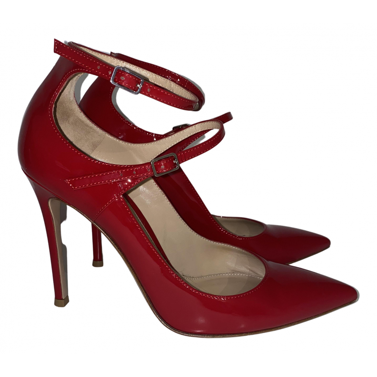 Gianvito Rossi N Red Patent leather Heels for Women 37.5 EU