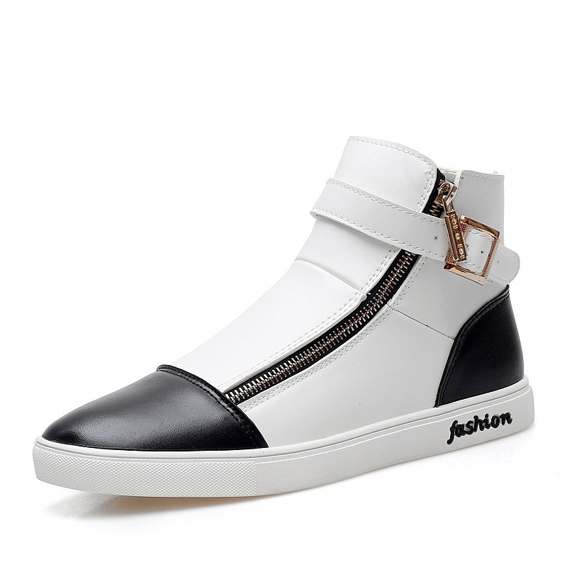 Ericdress Zipper Buckle High-Cut Men's Athletic Shoes
